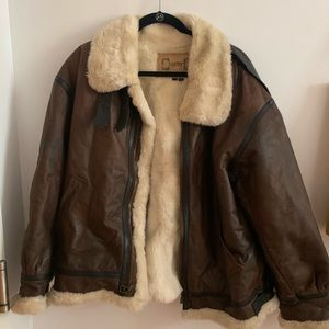 Vintage Authentic Leather and Fur Moto Jacket